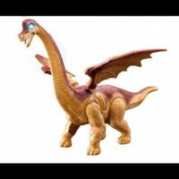 Mainan dinasaurus sayap besar berjalan + bertelur / robot dinasaurus