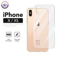 iPhone X XS Back Tempered Glass Clear Anti Gores Belakang Protector 9H
