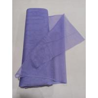 Kain tile tille baju Ungu Muda per meter tille halus Murah