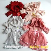 Baju Muslim Bayi Gamis Perempuan 0-12 bulan Gamis Princess Baju KA65
