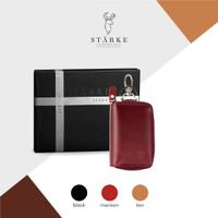 Dompet Kunci Mobil Kulit Asli Leather Key Wallet Ramble Sika IV Maroon