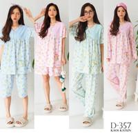 Baju Tidur Piyama Oblong Nn Krah Kaos Katun GREET D-357