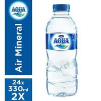 AQUA Air Mineral Botol Mini [330 ml x 24 Pcs]