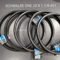 Ban Luar SCHWALBE ONE 20 x 1 1/8 451 not one tanwall