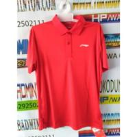 Kaos Polo Shirt Baju Kerah Distro LiNiNG Li NiNG polos custom olahraga