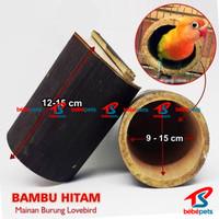 GLODOK LOVEBIRD BAMBU / BAMBU SETAN VIRAL MAINAN SARANG BURUNG BAMBU