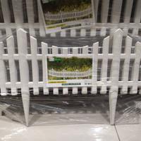 Kris Garden Pagar Taman Plastik Type Bambu Isi 5 Pcs