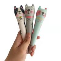 Pulpen Gel Pen Bolpen Squishy Karakter Animal Hewan Kucing Cat Kitten
