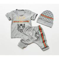 Klik Mds Baju Setelan Anak Bayi Laki-Laki Motif Karakter Guci Lion
