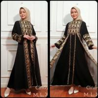 Ready new baju gamis abaya hitam bordir rompi terbaru 2021