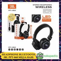 Headphone Bando Bluetooth JBL SUPER BASS PPT-860 dengan Lampu LED