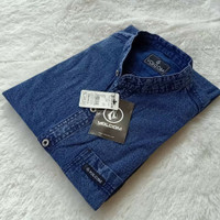 Kemeja Jeans Pria Lengan Pendek Premium Quality Bayar Ditempat