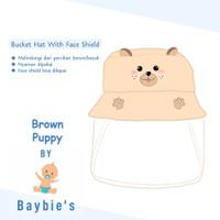 Baybie's Topi Bucket Face Shield Baby / Topi Motif Brown Puppy