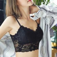 Bralette Bra BH Dalaman Tanktop Crop Top Wanita Renda Lace Trendy Sexy