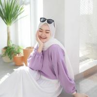 PROMO Baju Atasan Blouse Lucy Lengan Balon Model Korea Wanita Murah