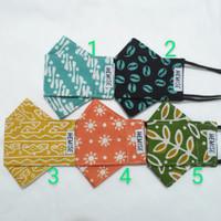 Masker Kain 3D Motif Batik 3 Lapis Dewasa/ Evo Mask Hijab - Hemise