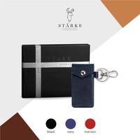 Dompet Kunci STNK Mini Leather Key Wallet Kulit Ramble Sika III Navy