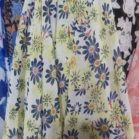kain sifon motif bunga/bahan atasan dress chiffon - 04