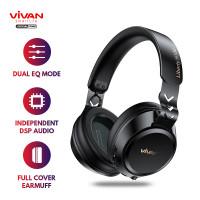 VIVAN Headset Wireless Bluetooth 5.0 Earphone Liberty H100 Black