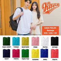 Baju Kaos Oblong Tshirt Polos Remaja LAKI-LAKI Unisex Cotton Combed