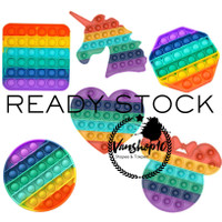 Pop It Fidget Toy Rainbow Kotak Bulat Oktagon - Kotak Rainbow