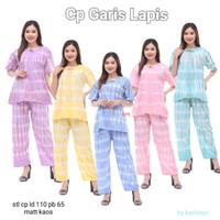 setelan piyama wanita set cp tie dye garis baju tidur murah