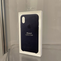 Casing Apple iPhone X - Official Leather Case Midnight Blue - Original