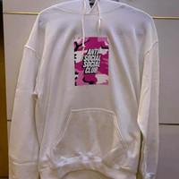 Anti Social Social Club - Pink Camo Box Logo White Hoodie Original