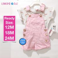 Limited Too Set 2pc Jumpsuit Shirt White Pink Rainbow Branded Original - 12M