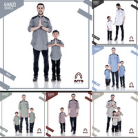 Pakaian Muslim Dewasa Anak Couple Premium - GHZ - Blue, XXL dewasa