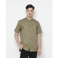 Kemeja Pria Erigo Short Shirt Nute Katun Olive