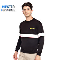 HIPSTER Boy Outfit Sweater Premium Black Stripe