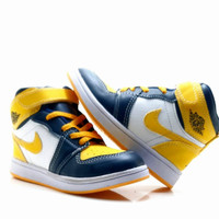 Sepatu anak Nike Jordan Biru Kuning(Grade Original)Ready Size 24-35