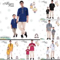 Pakaian Muslim Baju Koko Dewasa Anak Couple /lPremium - ARL
