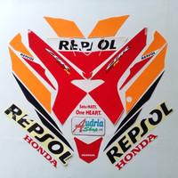 Striping Sticker Motor Honda CBR 150 Repsol 2019 Orange