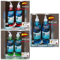 Happy Care 500ml Cair Pump hand sanitizer alkohol 80%