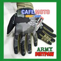 Gloves - Sarung Tangan Dirtpaw Army Fox Loreng sepeda motor Tactical