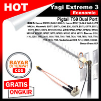 Antena Modem 4G LTE Yagi Extreme III Eco Pigtail TS9 Dual Port