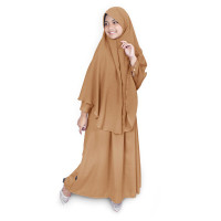 Bajuyuli - Baju Muslim Anak Perempuan Gamis Syar'i Polos Milo WSML01