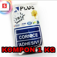 Compound Kompon Gypsum Plafon Tembok A PLUS 1 KG