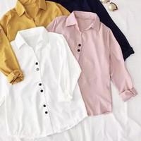 PROMO Baju Kemeja Kerja V Carol Lengan Panjang Polos Wanita Murah