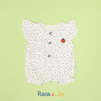 Mika Romper (Romper Bayi) - Hitam, 0-6 bulan