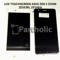 LCD TOUCHSCREEN ASUS ZEN 3 ZOOM ZE553KL Z01HDA BLACK/WHITE ORIGINAL - Putih