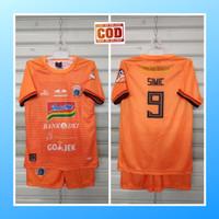 Baju anak jersey sepak bola kaos setelan olahraga simic persija orange