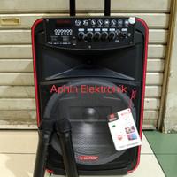 Speaker Portable meeting Asatron 12 inch OCEANA 2 mic wireless