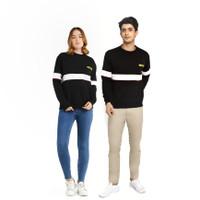 HIPSTER Couple Pasangan Sweater Premium Simple Black Cewek Cowok