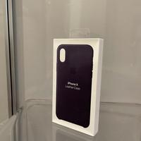 Casing Apple iPhone X Official Leather Case Dark Aubergine - Original