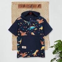 ORKIDS Baju Kaos Anak Paint Dino / Navy