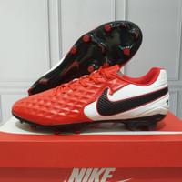 Sepatu Bola Nike Tiempo VIII Pro Red Black FG Premium Quality
