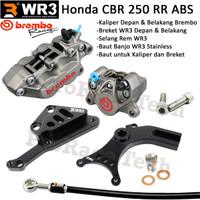 CBR 250 RR ABS Breket WR3+Kaliper Brembo Depan Belakang+Selang Rem WR3